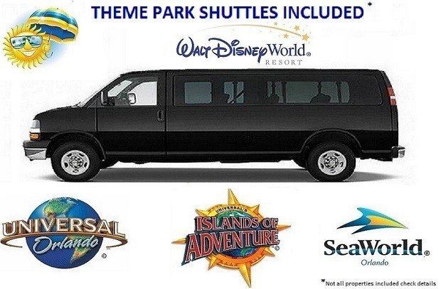 Shuttles to Universal Studios Seaworld Walt Disney World